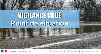 Crues dans l'Eure - Point de situation