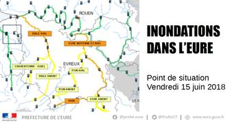 Crues - Point de situation à 16h00