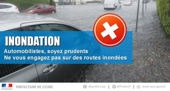 Inondations dans l'Eure - Axes routiers - Point de situation