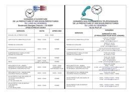 Les horaires de la préfecture !   Actualités   Accueil - Les ... 552f4e6033c7