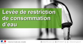 Levée de restriction d'eau