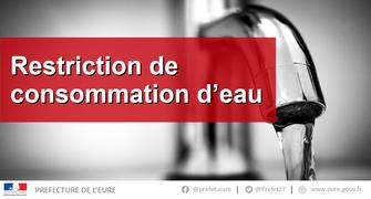 MAINTIEN DE LA RESTRICTION DES USAGES DE L'EAU POUR 12 COMMUNES