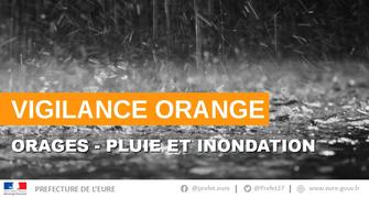 Orages dans l'Eure - Point de situation au 5 juin 2018 à 8h30