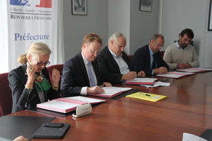 "Signature de la convention relative au dispositif de partage d'informations ""@lerte-Agri 27"""