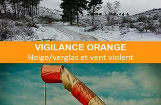 VIGILANCE ORANGE NEIGE/VERGLAS ET VENT VIOLENT