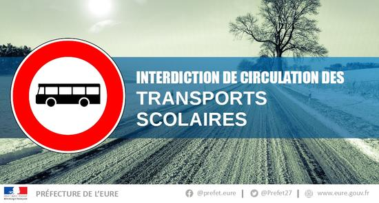 Interidction transports scoalaires